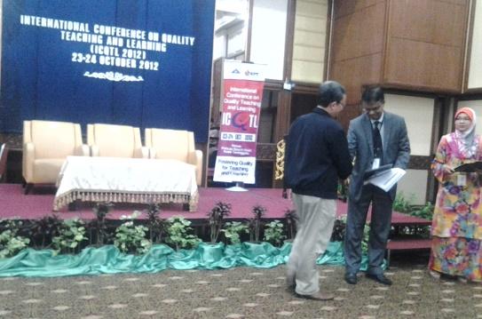 Distributing Awards at ICQTL-2012, Malaysia