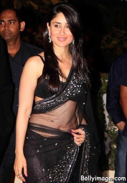 kareena kapoor khan hot navel show pic in saree