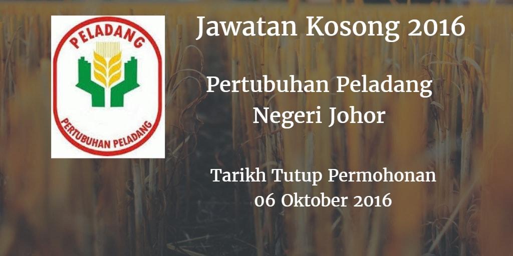 Jawatan Kosong Pertubuhan Peladang Negeri Johor 06 Oktober 2016