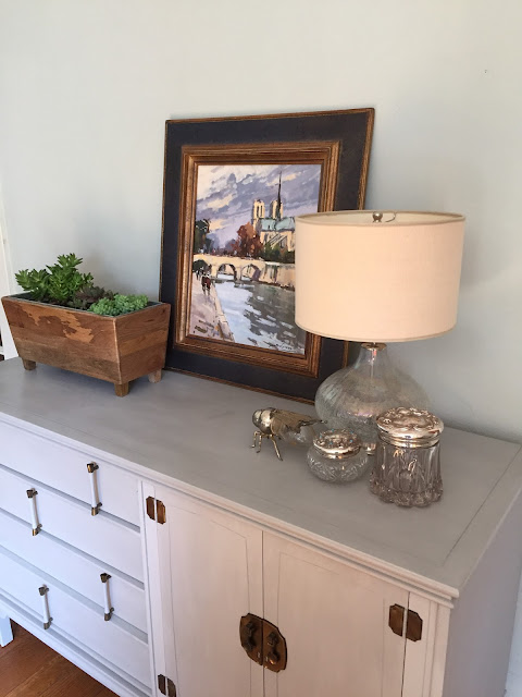 Mid-Century Modern Buffet painted with ASCP in Paris Grey
