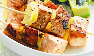 salmon brochettes recipe