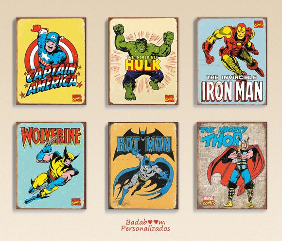 kit digital, pôster, pôsteres, arte digital, heróis, avengers, quadro, quadros, prints, printable, capitão américa, wolverine, thor, hulk, batman, homem de ferro