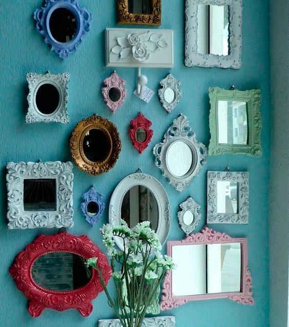 Aerolom ind y com for Pintar marco espejo