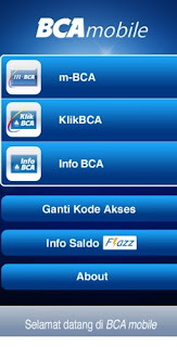 Menu BCA Mobile