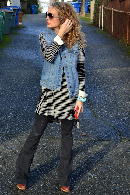 tunic with flare jeans