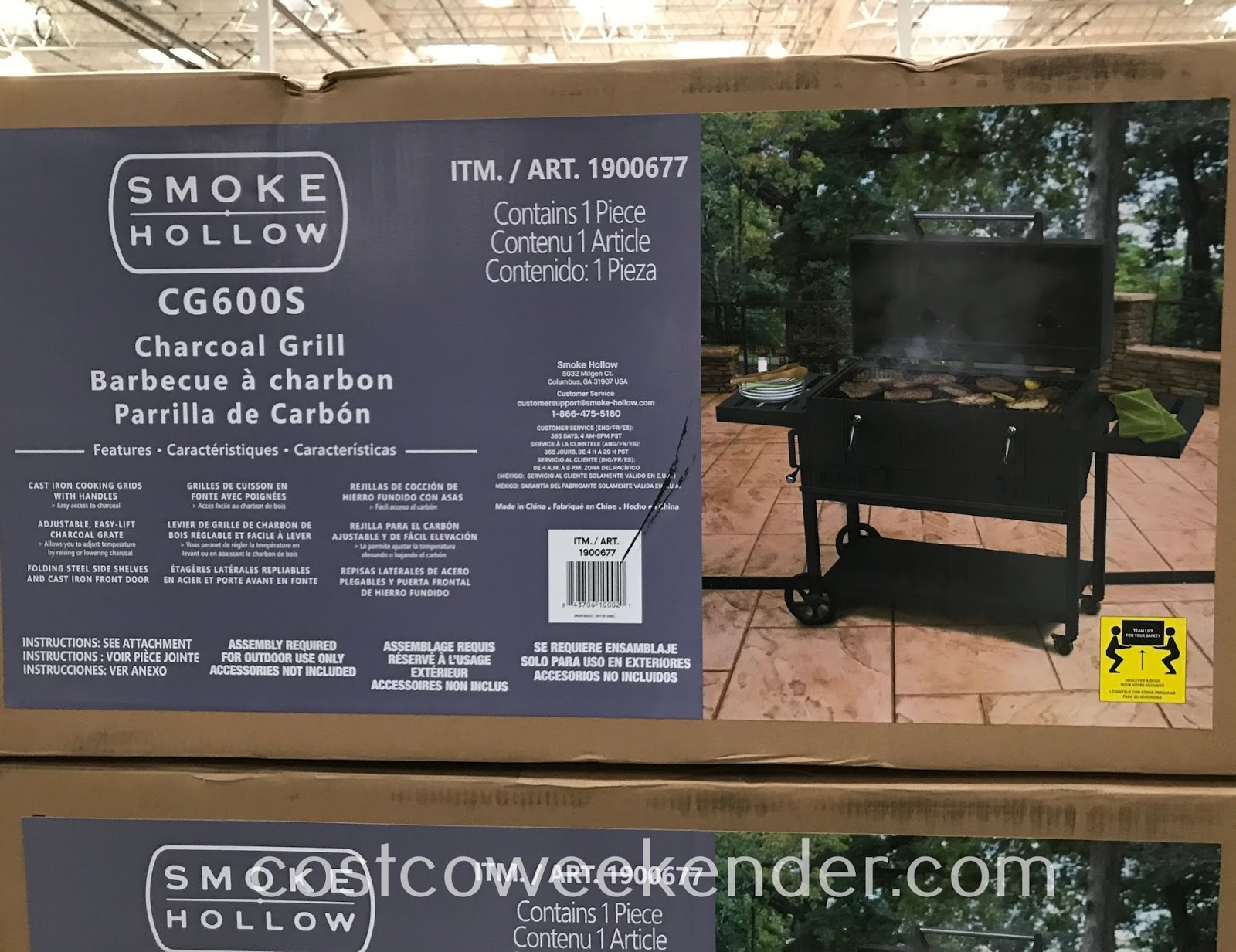 Costco 1900677 - Smoke Hollow CG600S Charcoal Grill: great for summer barbecues