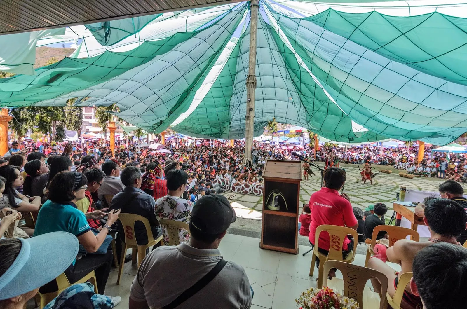 Nearing the Cultural Arena 13th Lang-Ay Festival Bontoc Mountain Province Cordillera Administrative Region Philippines