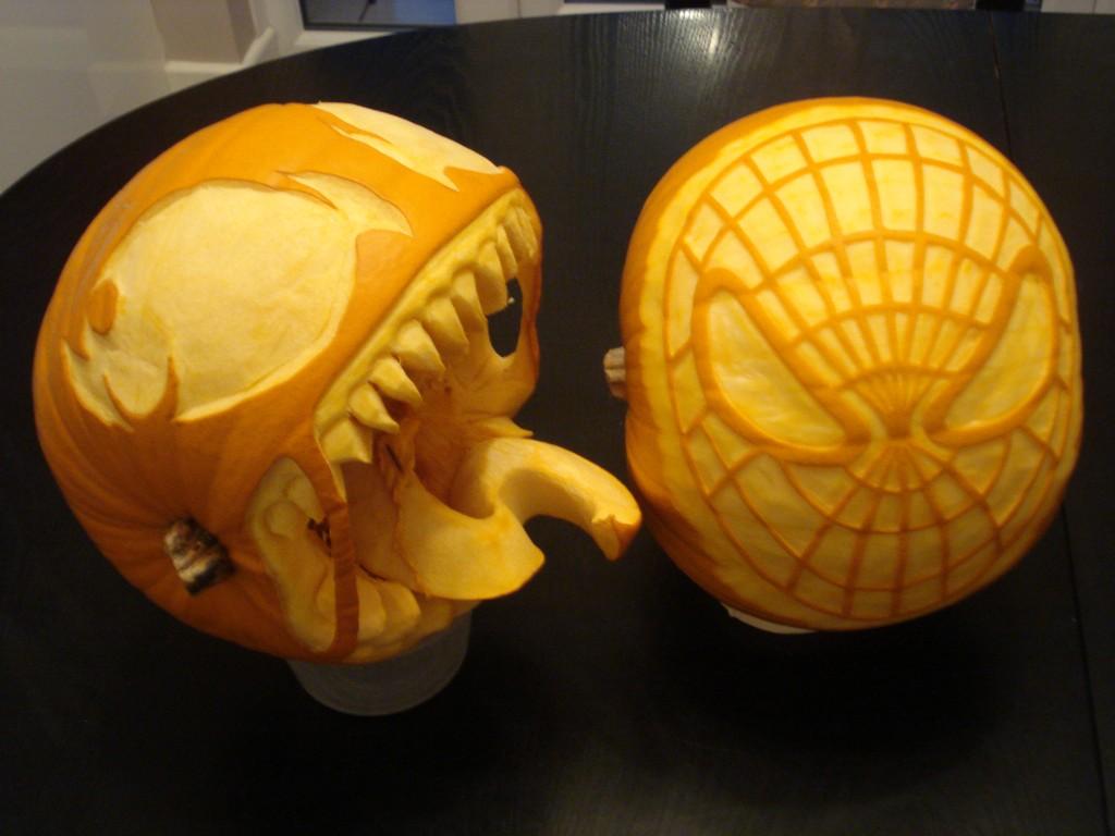 Spider Man Pumpkin Carving Template
