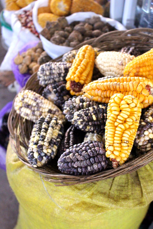 Corn at Cusco market, Peru - lifestyle & travel blog