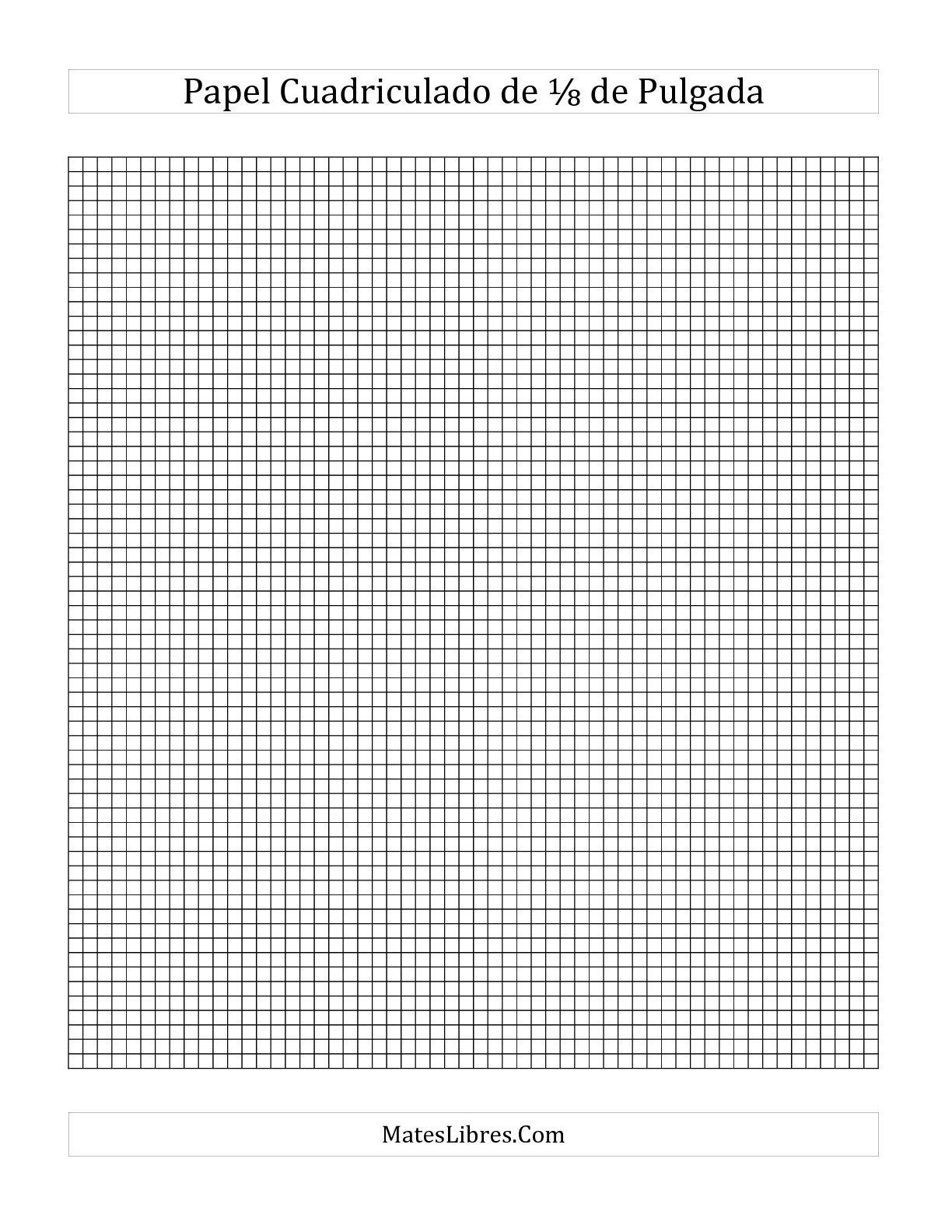 papel milimetrado para imprimir
