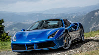 2016 New Ferrari 488 Spider show performance blue edition color