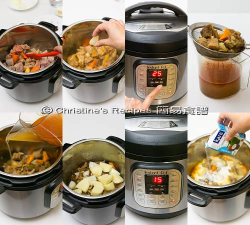 Red Curry with Beef Brisket in Instant Pot Procedures