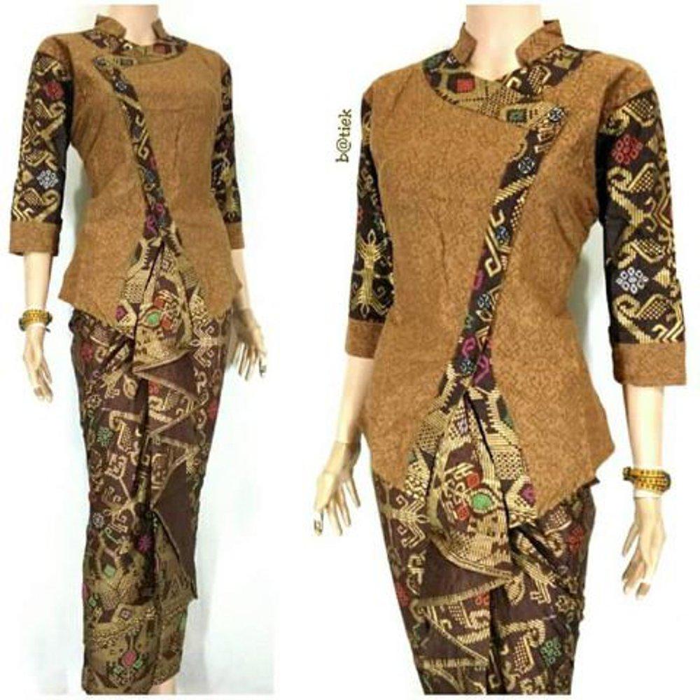 25 Model Baju Batik Kombinasi Embos Modern Updatemodelbaju