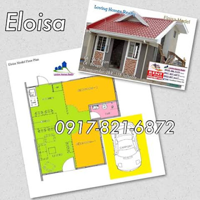ELOISA LOFT FLOOR PLAN - TERRAVERDE RESIDENCES AFFORDABLE HOUSE AND LOT SALE RENT TO OWN CAVITE