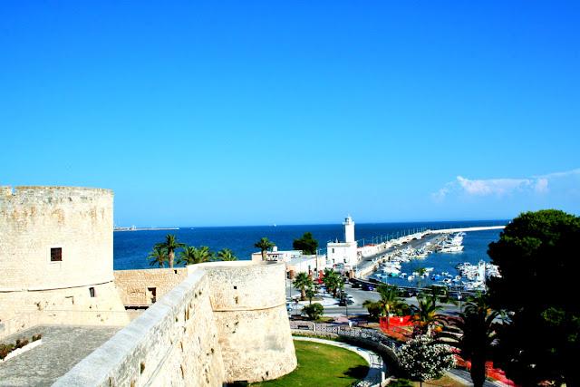 castello, mare, cielo, panorama, porto