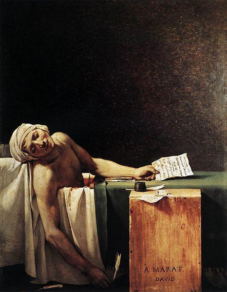 """Marat asesinado"" (1793) de Jacques-Louis David."
