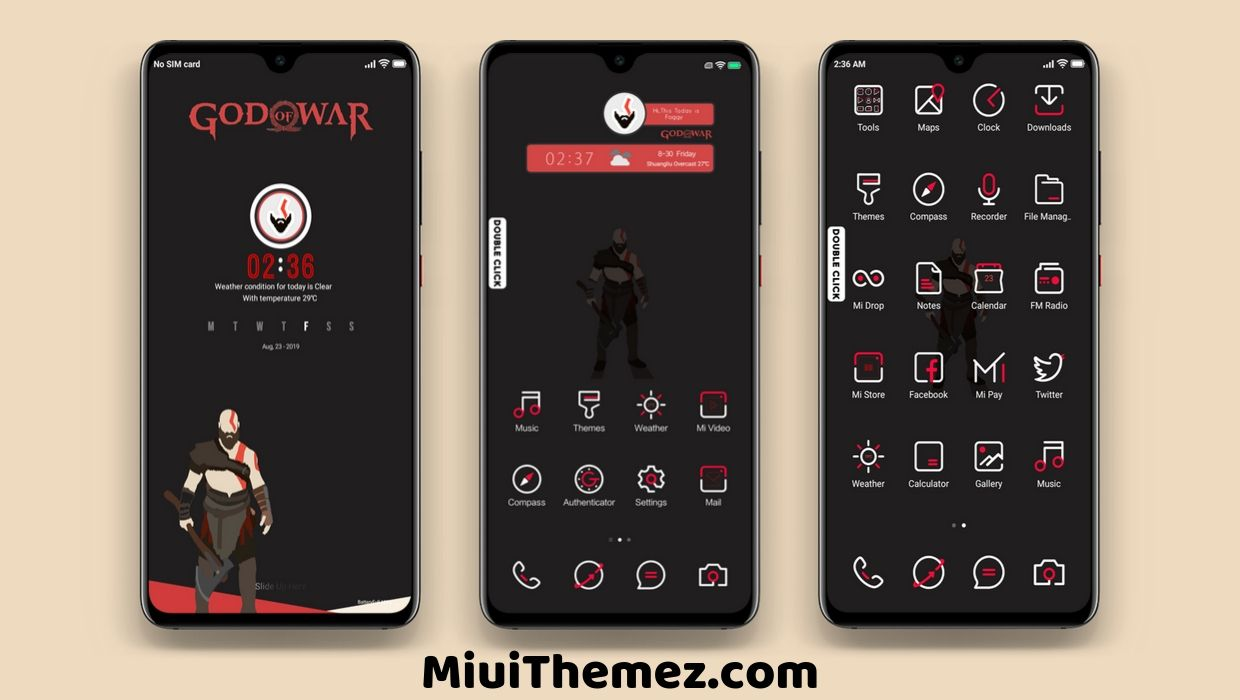 God Of War MIUI 10 Theme