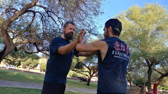 partner training during our martial arts classes in Tempe, AZ