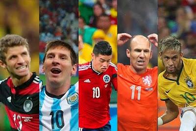 Daftar 11 Pemain Terbaik Piala Dunia 2014
