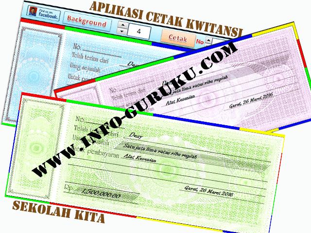 Download Aplikasi Cetak Kwitansi Otomatis Format Excel.Xls Terbaru