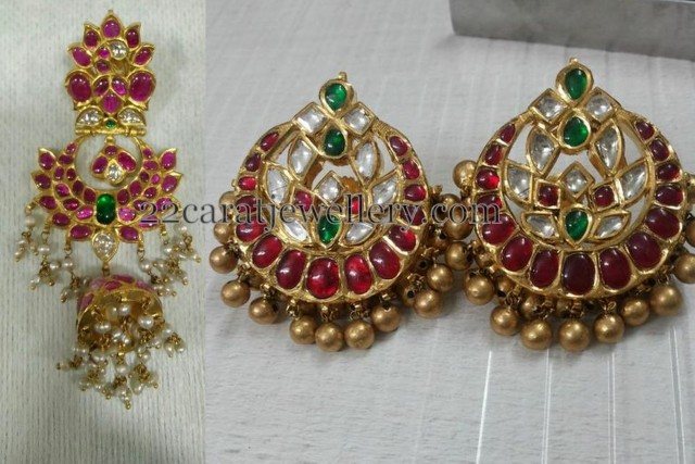 Kundan Tops and Jhumkas