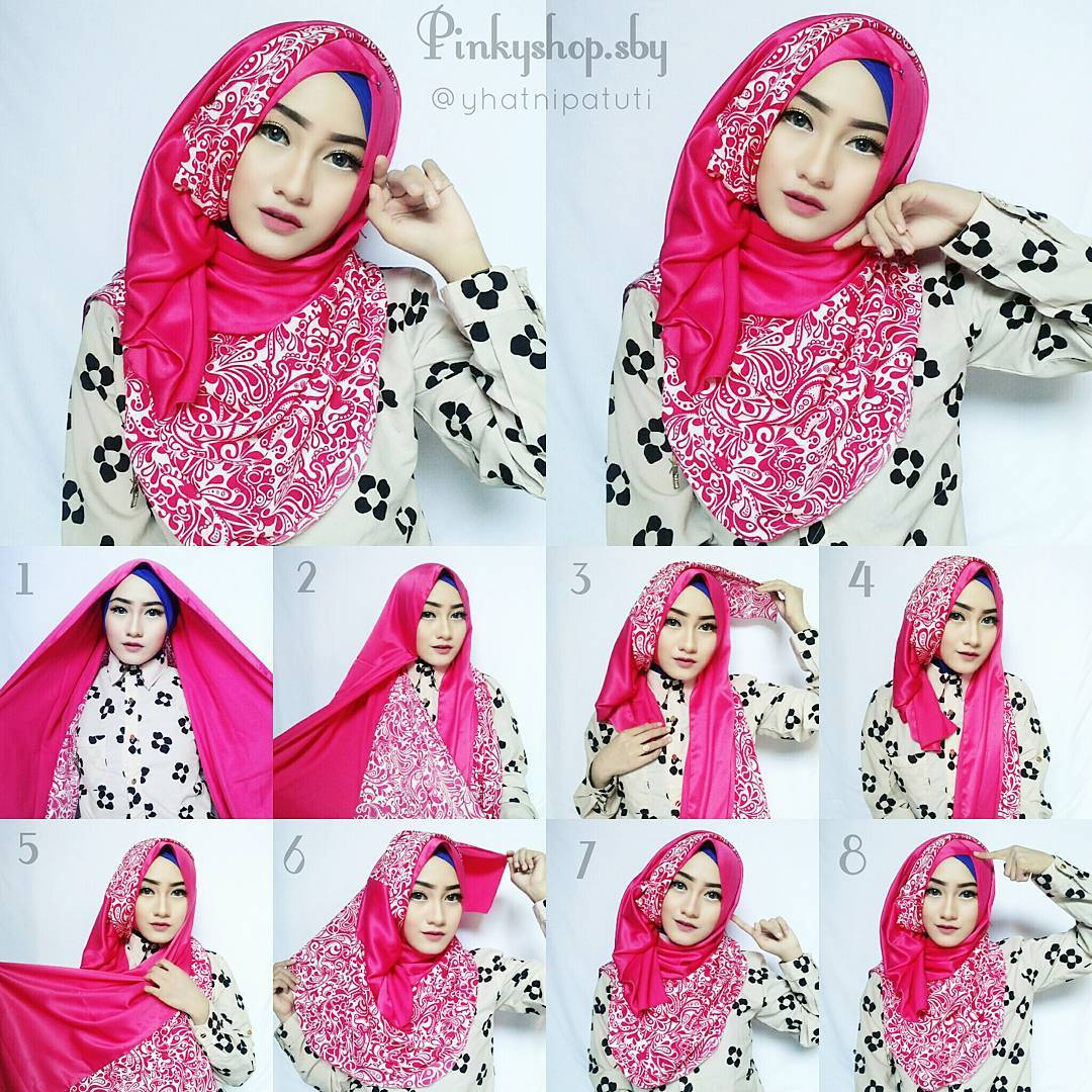 Tutorial Hijab Pashmina Warna Pelangi Tutorial Hijab Paling Dicari