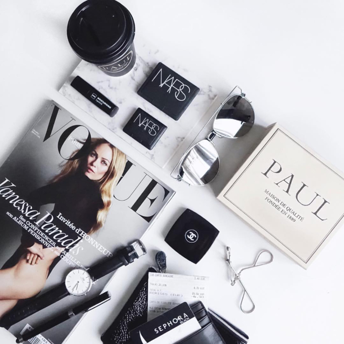 Eight signs you're a fashion blogger flat lay