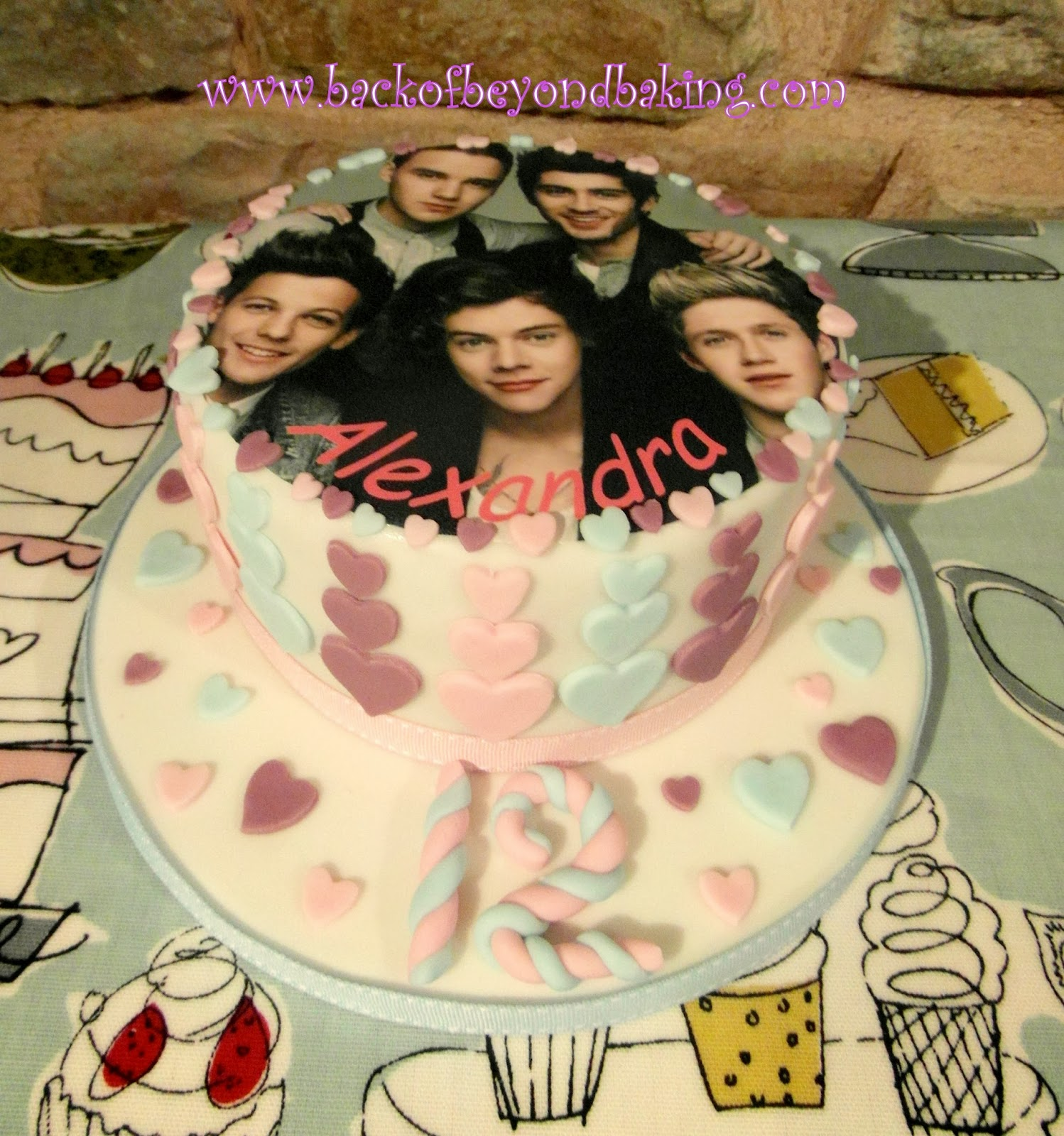one direction photo cake