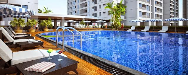 Bể bơi bốn mùa nước mặn tại chung cư Ecolife Capitol