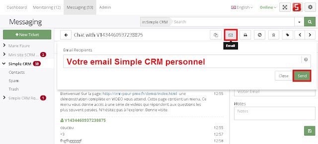 comment utiliser simple crm    cr u00e9er un ticket de support