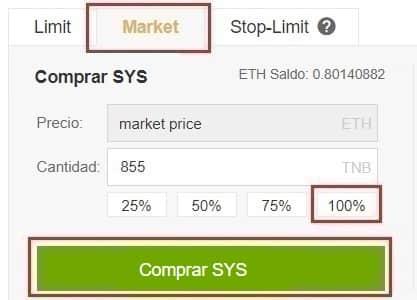 Cómo Comprar Syscoin (SYS) con Euros y Dolares