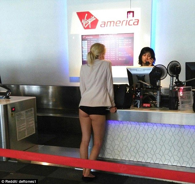 Check out what this woman was spotted wearing at the airport