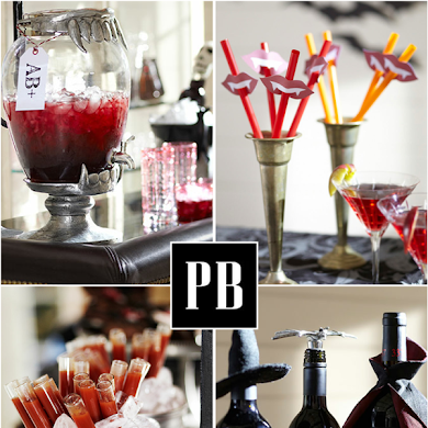 Halloween Vampire Inspired Blood Bar Party
