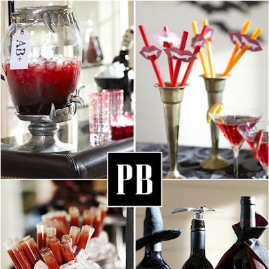 Halloween Vampire Inspired Blood Bar Party