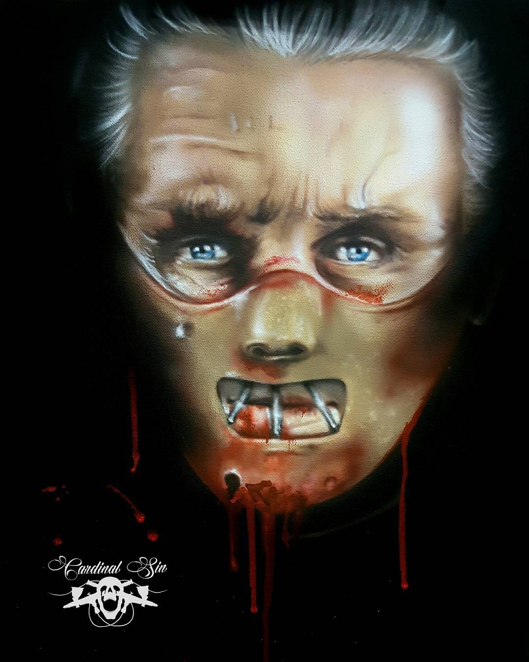 07-Hannibal-Lecter-Sir-Anthony-Hopkins-Courtney-Georghiou-Art-Drawn-and-Airbrushed-and-Painted-in-an-Eclectic-Mix-www-designstack-co