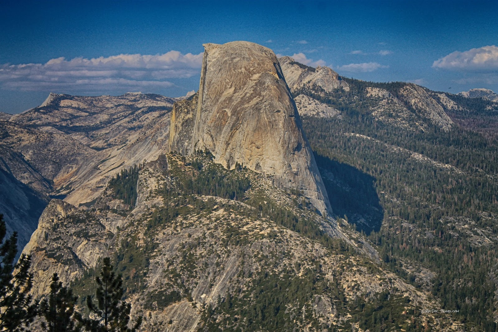 Yosemite National Park California geology travel field trip Glacier Point copyright RocDocTravel.com