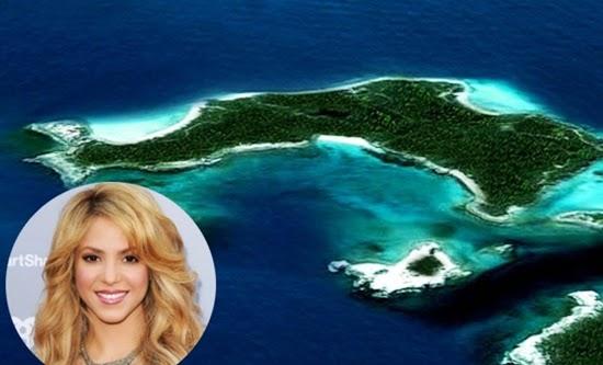 shakira : selebriti yang memiliki pulau pribadi