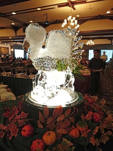 氷の彫刻の写真