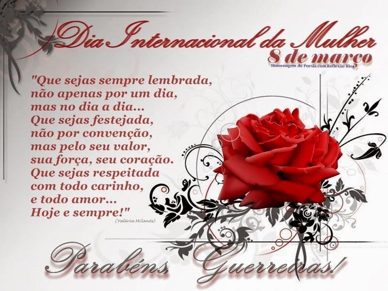 Reflexão poesia Dia da Mulher, 08 DE MARÇO,