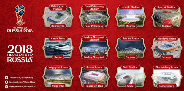12 Stadion Piala Dunia 2018 Rusia