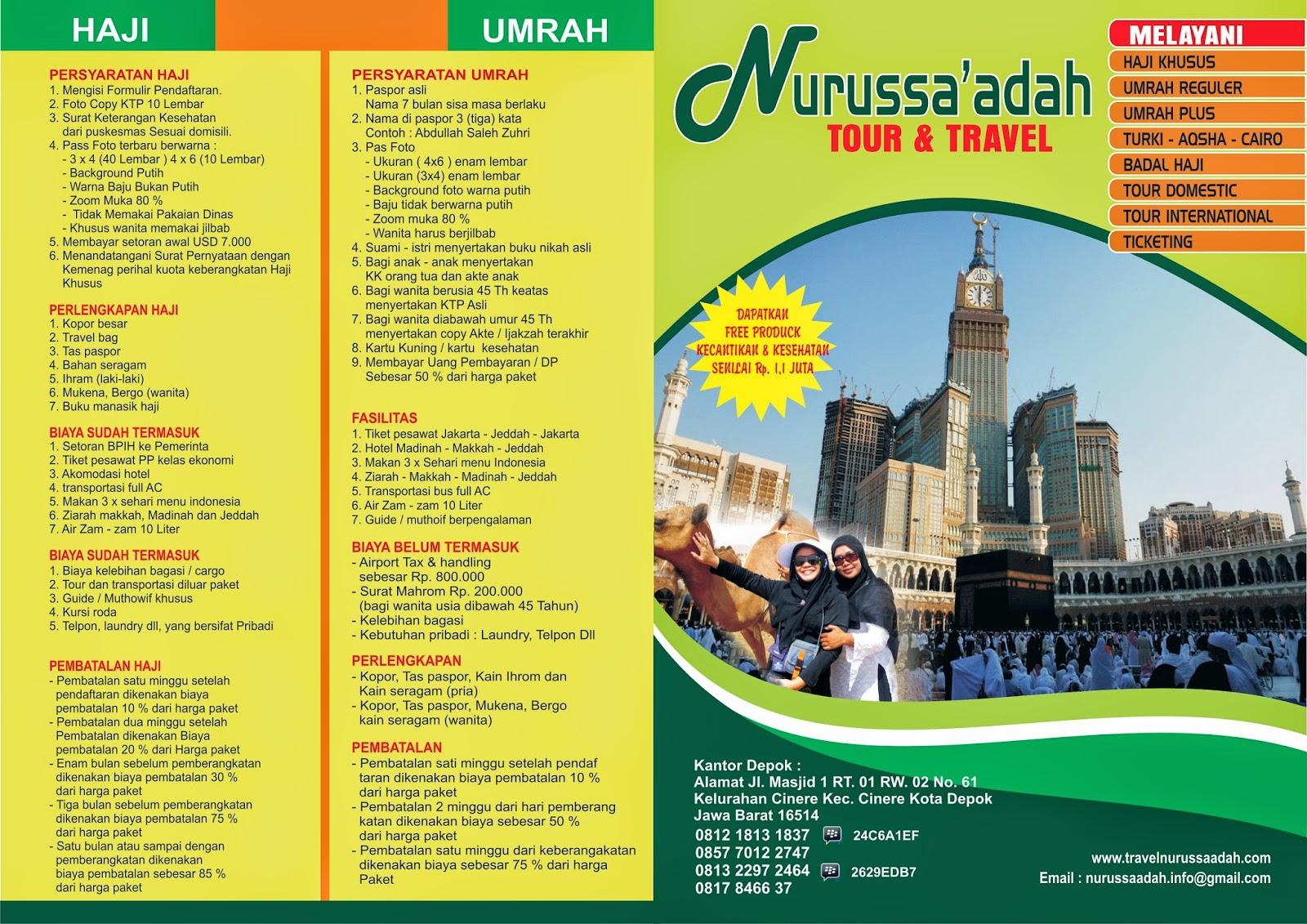 Kumpulan Brosur Haji Dan Umroh Dan Harga Tour Printing Examples