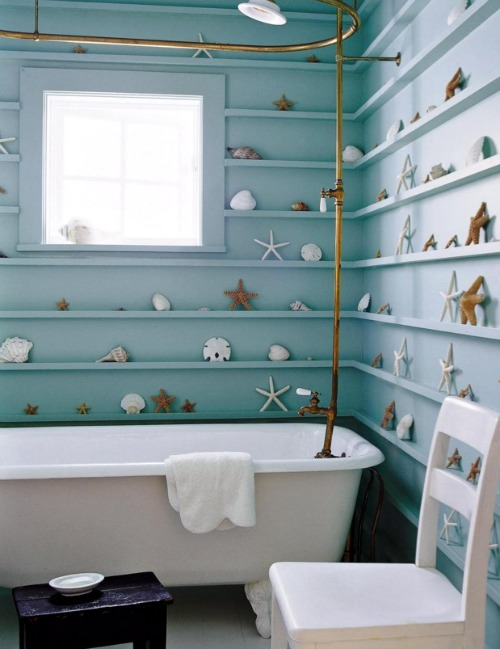 Superb Ledge Shelving in Bathroom