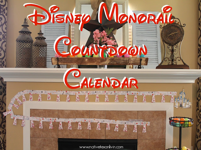 Disney Monorail Countdown Calendar
