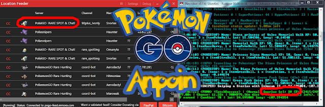 Cara Menggunakan NecroBot + Auto Snipe, Cara Menggunakan BOT Pokemon GO dan PokeSniper, Cara Menggunakan BOT NecroBOt + Auto Sniping Pokemon Rare, Cara Menggunakan Location Feeder + Nercobot, Cara Menggunakan bot dan Location Feeder.