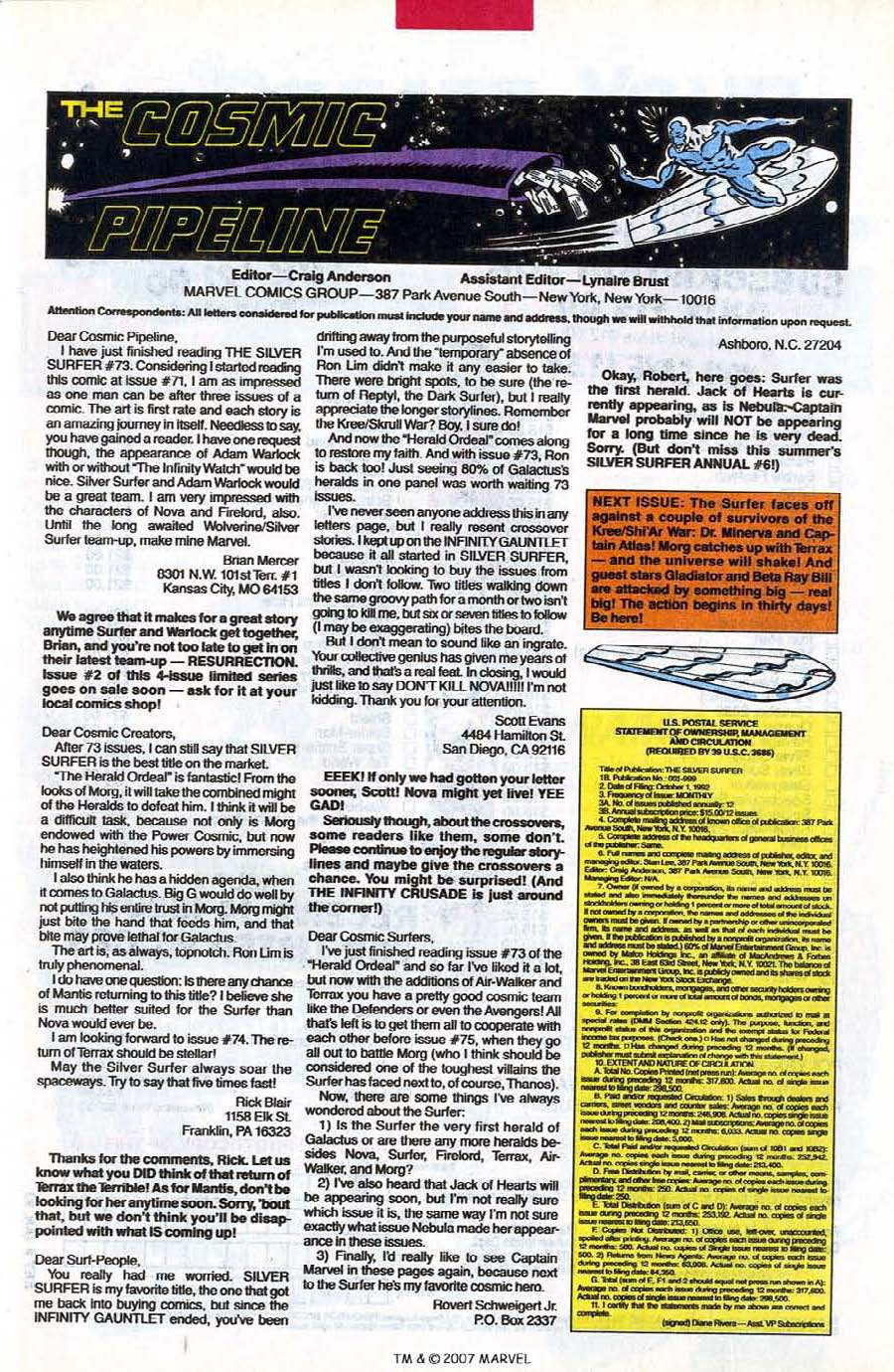 Read online Silver Surfer (1987) comic -  Issue #78 - 33