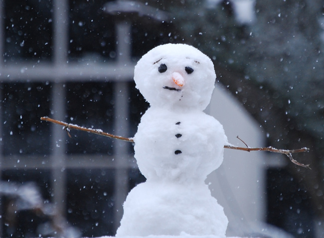 Even the snowman gets sad