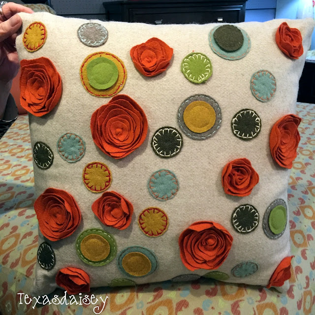 Look at what I found! This beautiful pillow from Gordon's Furniture
