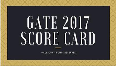 GATE 2017 Score Card
