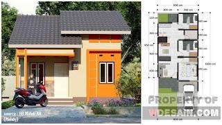 Desain Rumah Lebar 6 Panjang 10 yang Super Minimalis