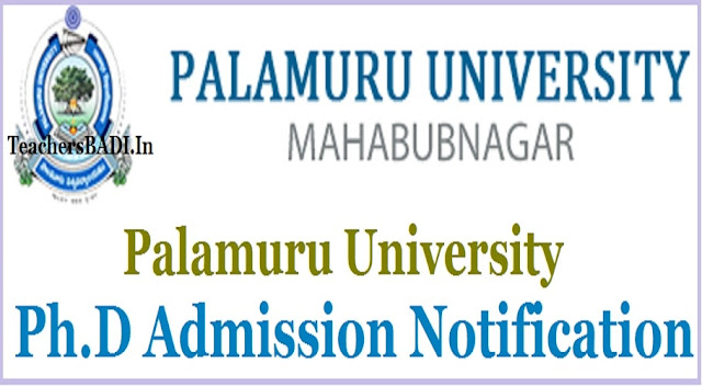 Palamuru University,Ph.D Admissions, Ph.D Eligibility test